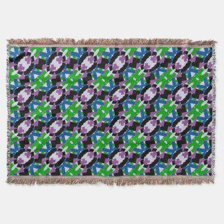 Lençol cobertura quadrada Multi-colorida do lance do