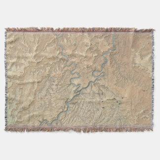 Lençol Coração da cobertura do lance de Canyonlands (Utá)