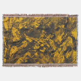 Lençol De tinta preta no fundo amarelo