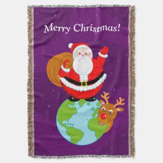 Lençol Desenhos animados do divertimento de Papai Noel