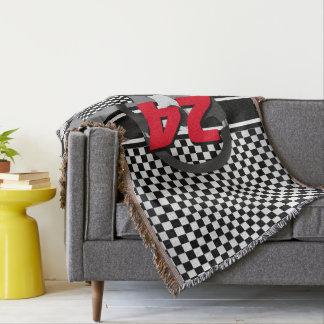 Lençol Design de competência Checkered preto e branco