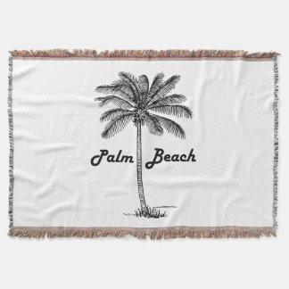 Lençol Design preto e branco do Palm Beach Florida & da
