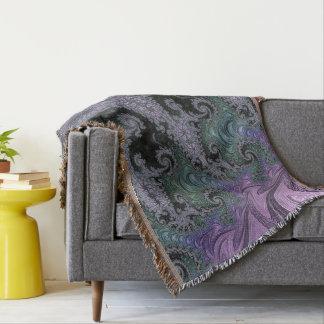 Lençol Design roxo da sala de visitas do tapete de lance