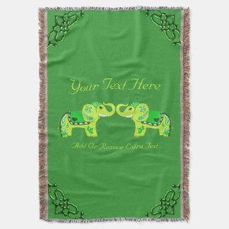 Lençol Elefante do Henna (verde/verde limão)