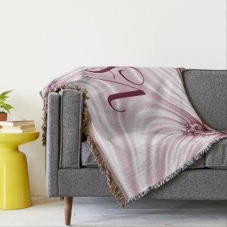 Lençol Fractal cor-de-rosa bonito. Imitação de seda.