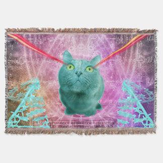 Lençol Gato com olhos do laser