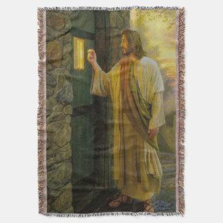 Lençol Jesus em seu vintage da porta