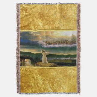 Lençol Jesus no design da textura do ouro da porta do céu