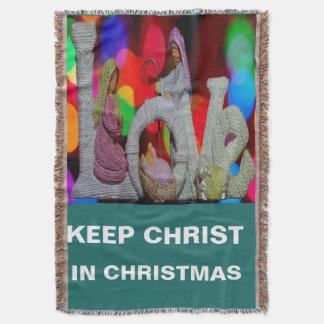 Lençol Mantenha o Natal do cristo n com a natividade e