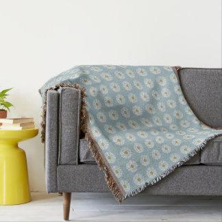 Lençol Mod-Soft-Blue-DAISES-Unisex_Bedding-Blanket