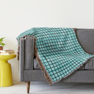 Lençol Modern_Squares (c) Turquoise_Blue-Blanket_
