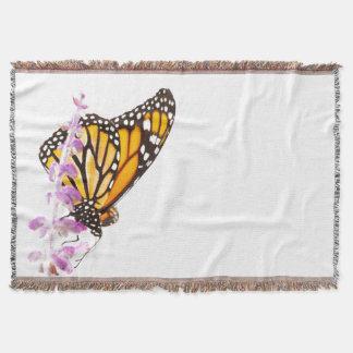 Lençol Monarca empoleirado na lavanda