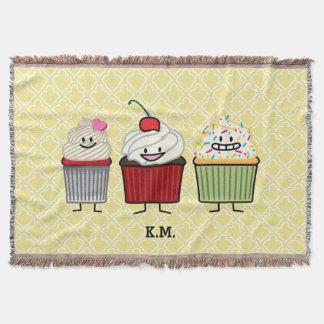 Lençol O glacé da família do cupcake polvilha bolos da