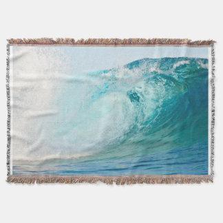 Lençol Onda do azul de Oceano Pacífico que quebra a