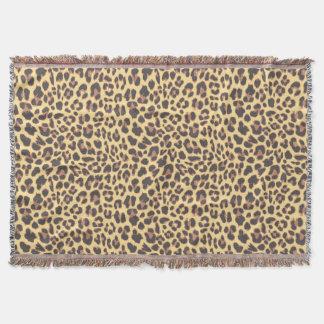 Lençol Padrões da pele animal do impressão do leopardo