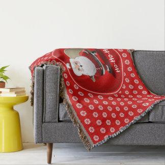 Lençol Papai Noel engraçado com um cheio do saco dos