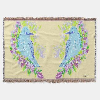 Lençol Pássaros azuis gerais do lance