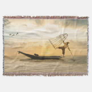 Lençol Pescando a cobertura do lance