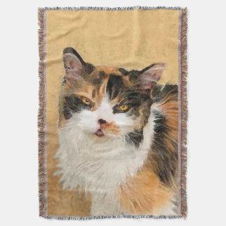 Lençol Pintura do gato de chita - arte original bonito do
