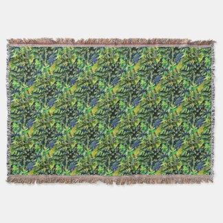 Lençol Pop art abstrato da folha em verde e no azul