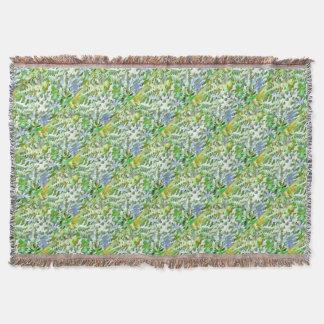 Lençol Pop art abstrato da folha no verde branco e no pó