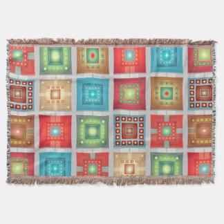 Lençol Quadrados gerais do lance w/multicolored