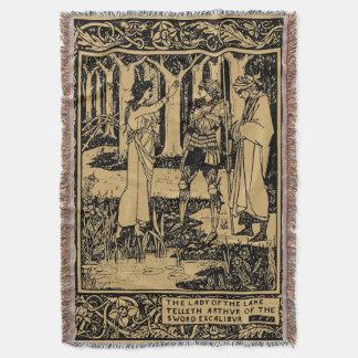 Lençol Rei Arthur por Aubrey Beardsley