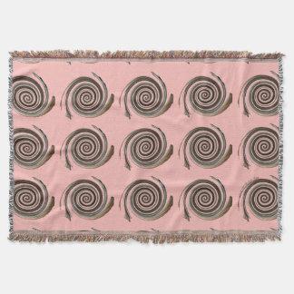 Lençol Rosa feminino do chocolate e da morango de Swirly
