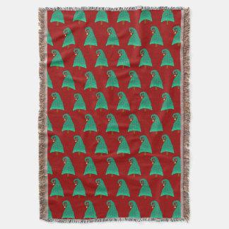 Lençol Teste padrão bonito da árvore de Natal no vermelho
