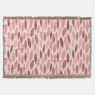 Lençol Teste padrão bonito das folhas do rosa e do
