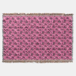 Lençol Teste padrão cor-de-rosa floral da colagem