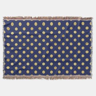 Lençol Teste padrão de bolinhas elegante da folha de ouro