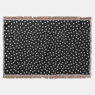 Lençol Teste padrão de pontos preto e branco dos confetes