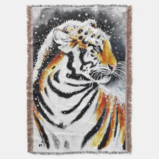 Lençol Tigre na neve noir