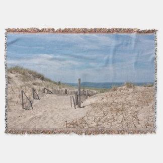 Lençol Trajeto ao Sandy Beach no ponto da raça