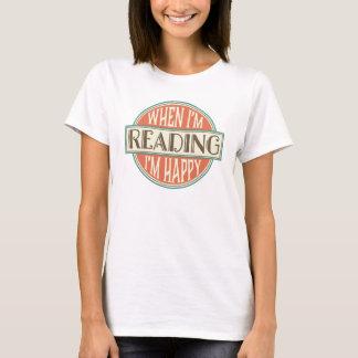 Lendo o t-shirt das mulheres do leitor do clube de camiseta
