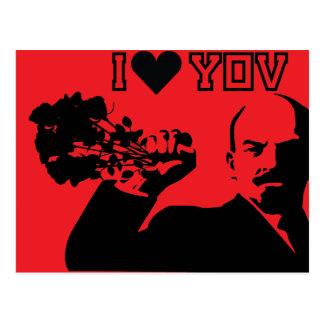 lenin - eu te amo cartão postal