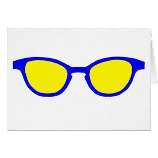 Lente azul do amarelo da borda dos óculos de sol o cartões