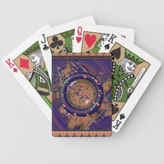 Lente borbulhante roxa, azul, verde & alaranjada cartas de baralho
