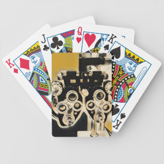 Lentes artísticas raras do exame da optometria baralhos de pôquer