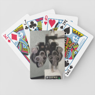 Lentes do exame de olho baralhos para poker