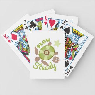 Lento & constante baralho para poker