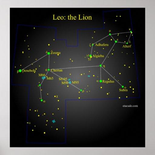 Leo a constelação do leão posteres