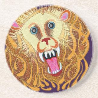 Leo o leão dourado porta-copos de arenito