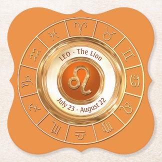 LEO - o sinal do zodíaco do leão Porta-copo De Papel