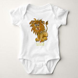 Leo pequeno o leão para crianças body para bebê