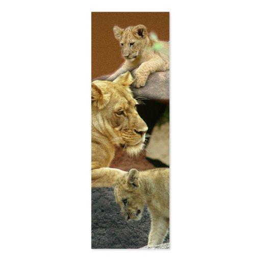 Leoa e marcador de Cubs mini/ Modelos Cartoes De Visitas