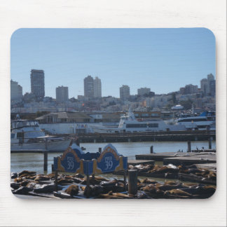 Leões de mar Mousepad da skyline & do cais 39 da