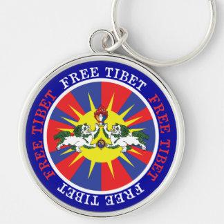 Leões livres da neve de Tibet e slogan da Chaveiros