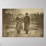 Léon Tolstói e o máximo Gorky do autor Poster